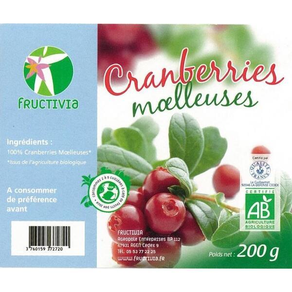 cranberries moelleuses bio
