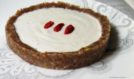 Gâteau croquant aux baies de goji et mascarpone - Recette Esprit Santé
