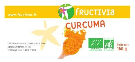Curcuma poudre bio 150g FRUCTIVIA