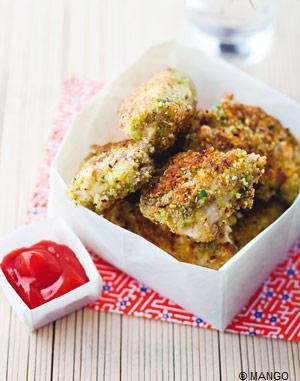 Nuggets - chapelure pistache et noisette - Recette Esprit Santé