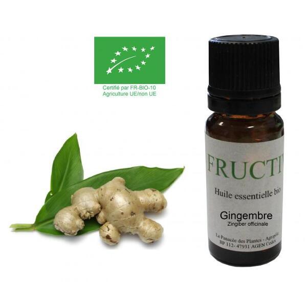 Huile essentielle Bio Fructivia - Gingembre