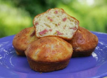 Muffin jambon parmesan
