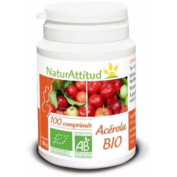 Acérola bio (470 mg) - boite de 100 comprimés - naturattitud
