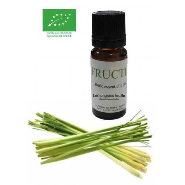 Huile essentielle Bio Fructivia : Lemongrass feuille