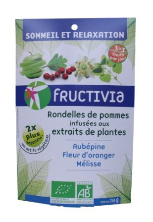 Pommes sommeil et relaxation bio fructivia (aubepine, fleur d'oranger, mélisse)