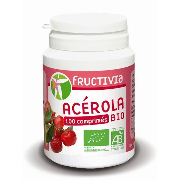 Acérola bio 100 comprimés fructivia