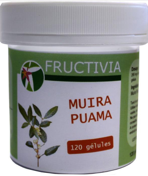 Muira Puama fructivia 120 gélules