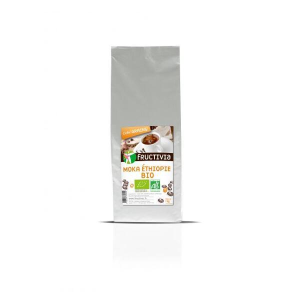 Café Moka Ethiopie Bio en grains (1kg) - Fructivia