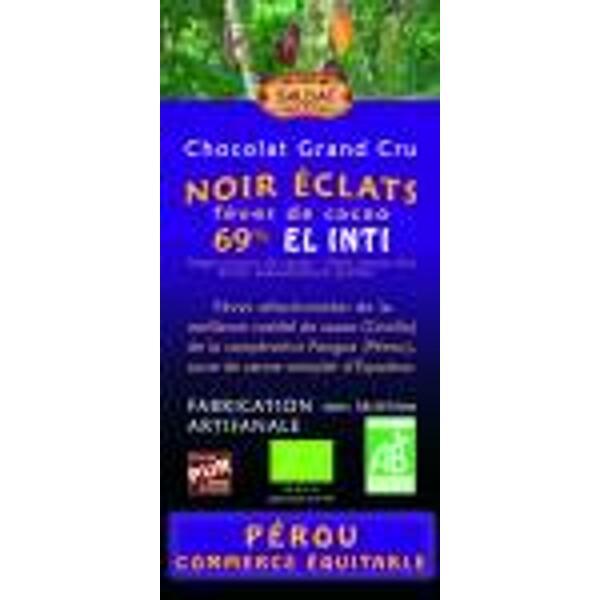 chocolat noir 69% cacao éclats de fèves