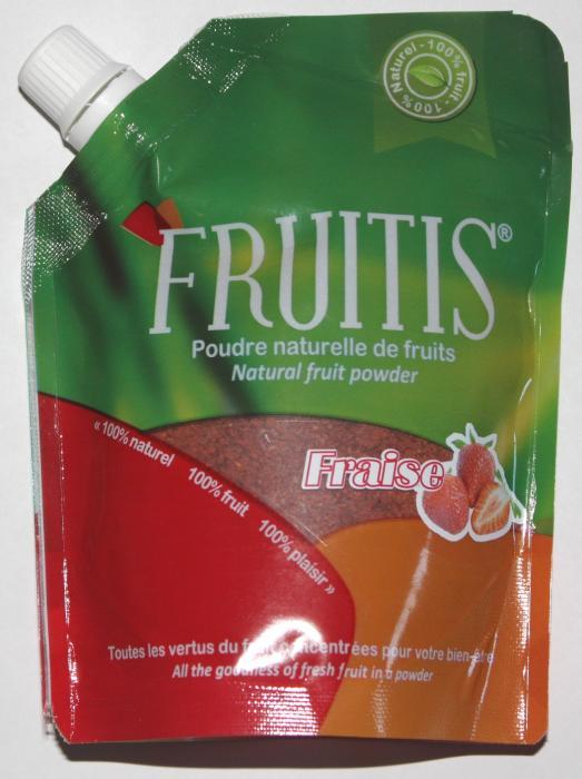 Poudre naturelle de fraise Fruitis