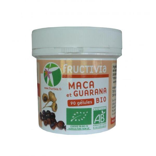 Maca guarana 90 gélules bio Fructivia