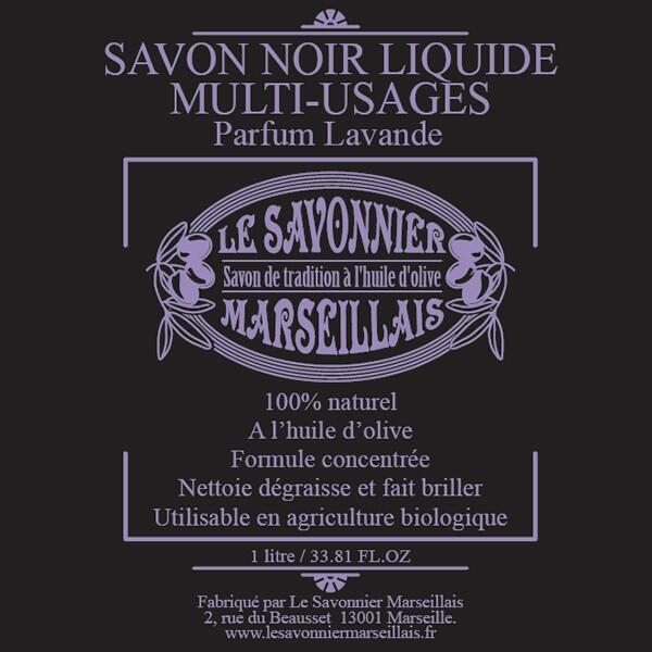 SAVON NOIR LIQUIDE PARFUM LAVANDE - LE SAVONNIER MARSEILLAIS