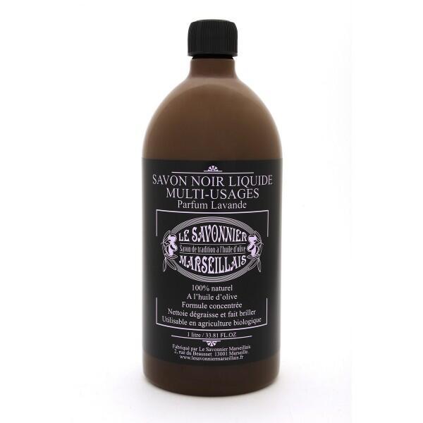 Savon noir liquide multi-usages - parfum lavande (1 litre) le savonnier marseillais