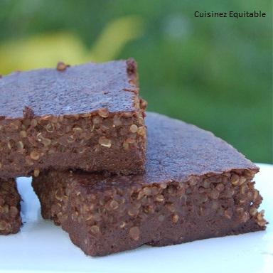 Fondant au chocolat et flocons de quinoa (sans gluten)