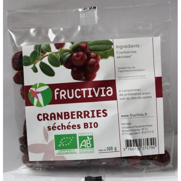 Cranberries séchées bio 100g