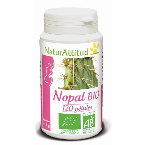 nopal bio - pilulier de 120 gélules - naturattitud