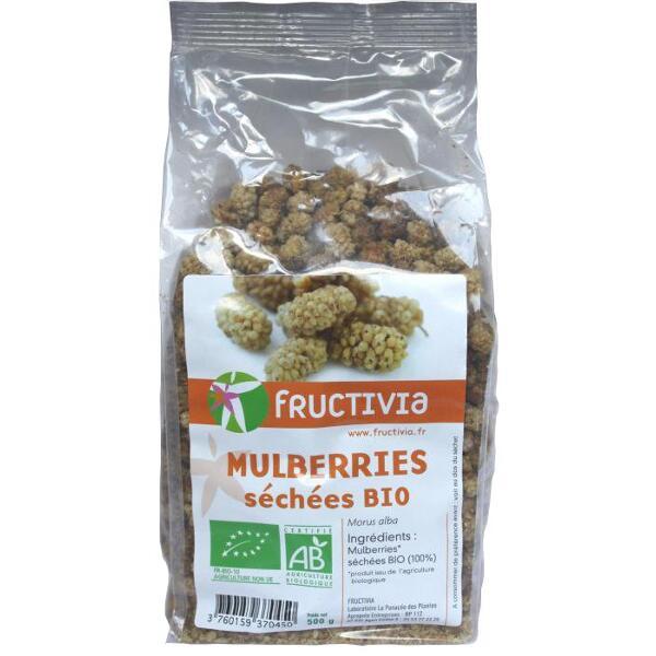 Mulberries séchées bio fructivia