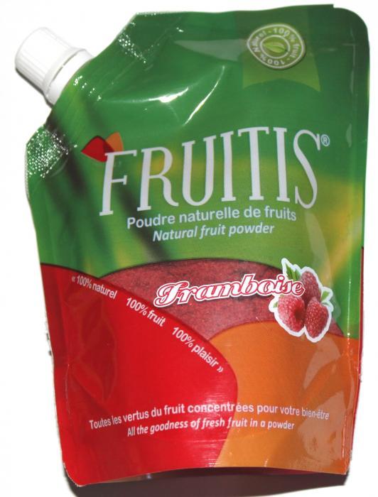 poudre naturelle de framboise fruitis