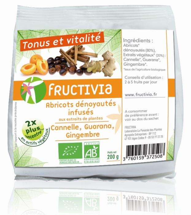 Fruit santé abricots tonus et vitalité bio fructivia