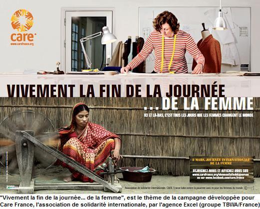 Vivement de la journée... de la femme. Campagne 2012 care
