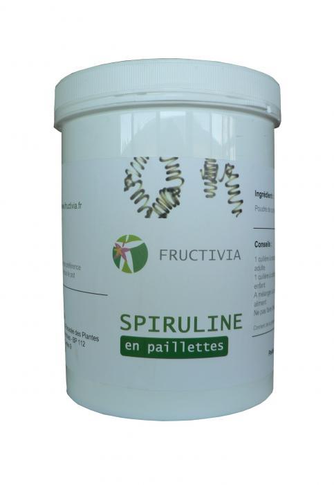 spiruline en paillettes 600 g certifiée par ecocert - FRUCTIVIA