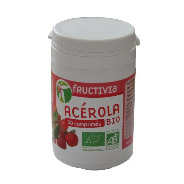 Acérola bio fructivia (470 mg) - boite de 30 comprimés