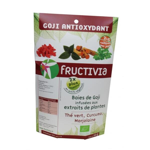 Baies de goji bio* enrichies en plantes aux vertus antioxydantes bio* (300g) - fructivia