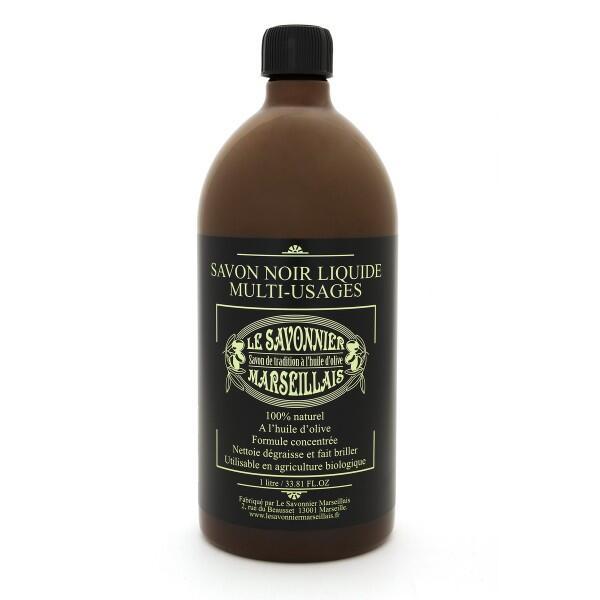 Savon noir liquide multi usages parfum naturel 1 litre le savonnier marse - Le briochin savon noir ...
