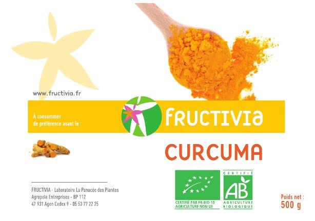 Curcuma poudre bio 500g FRUCTIVIA