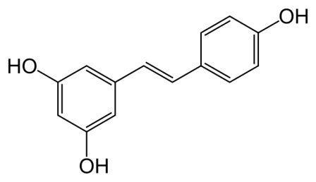 resvératrol, formule chimique de la molécule