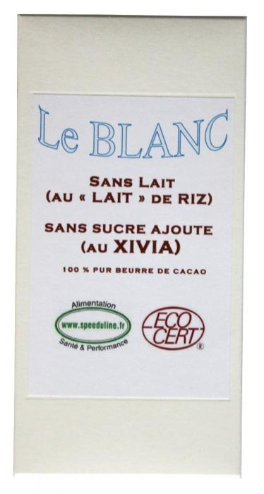 CHOCOLAT BLANC AU XYLITOL ET CACAO BIO