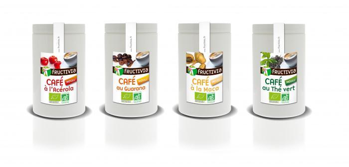 Lot Fructivia : 4 cafés aux plantes maca guarana acérola thé vert