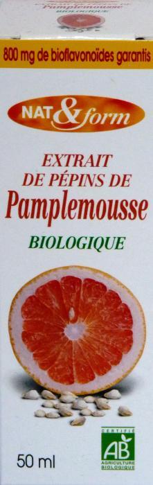 EXTRAIT DE PEPINS DE PAMPLEMOUSSE BIOLOGIQUE