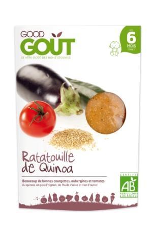Petit plat bio pour bébé Ratatouille au quinoa - dès 6 mois. GOOD GOUT