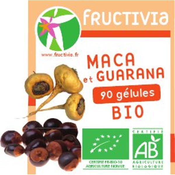 Maca et Guarana Bio Fructivia - Pilulier de 90 gélules