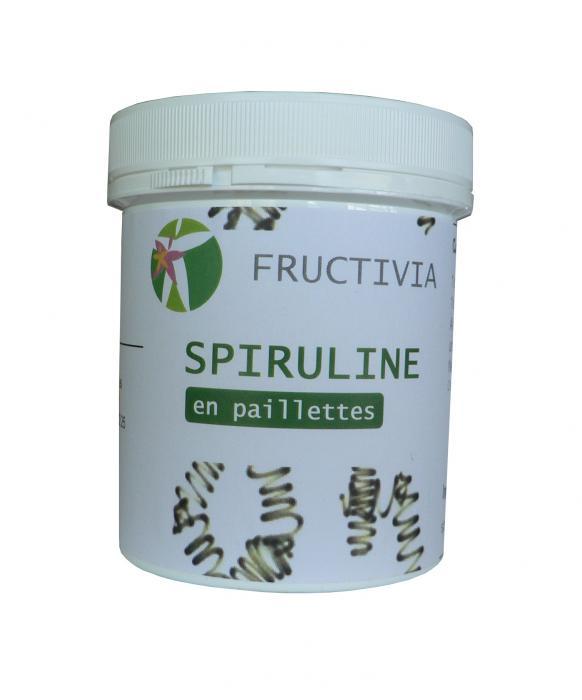 spiruline en paillettes 120 g certifiée par Ecocert - fructivia