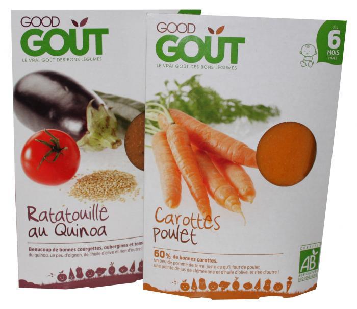 Lot de 2 plats bio pour bébé - Goog gout - Dès 6 mois
