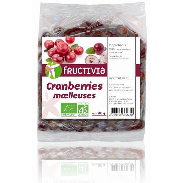 cranberries moelleuses bio fructivia