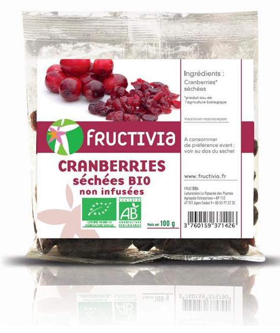 cranberries séchées non infusées bio