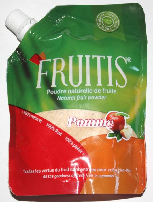 Poudre naturelle de fruits fruitis - pomme 100g