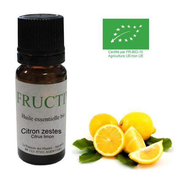 Citron zestes bio - Huile essentielle bio - 10 ml