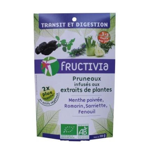 Pruneaux transit et digestion (menthe poivrée, romarin, sarriette, fenouil) BIO FRUCTIVIA