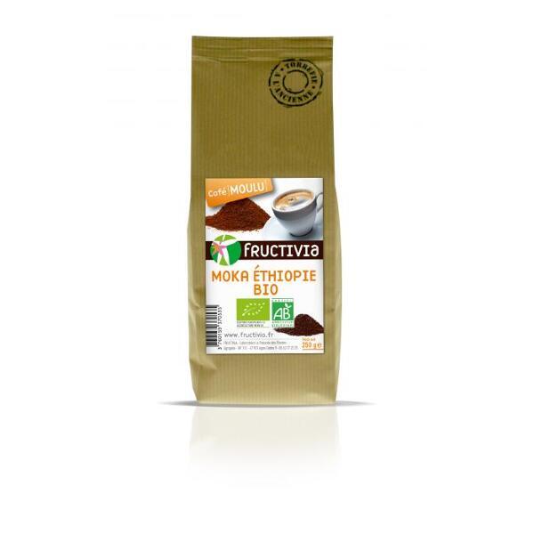 Café moulu Moka Ethiopie Bio (250g) - Fructivia