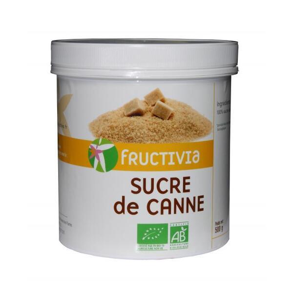 Sucre de canne roux bio (500g) - fructivia