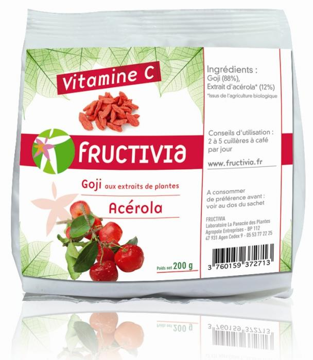 Baies de goji enrichies en vitamine C
