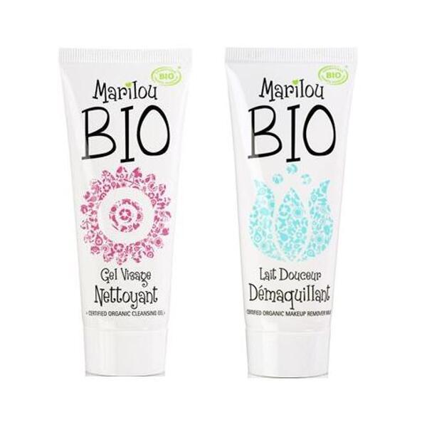 Lot 1 gel nettoyant + 1 lait démaquillant - Marilou Bio