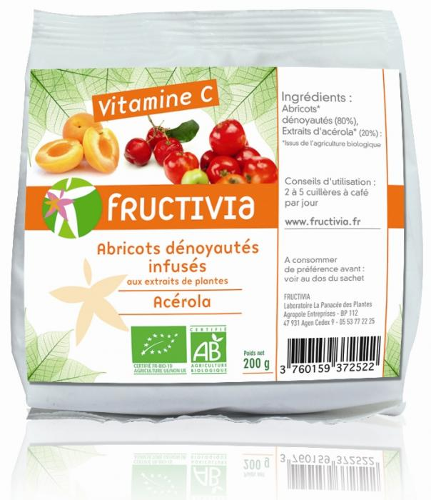 Fruits santé abricots vitamine c Bio Fructivia