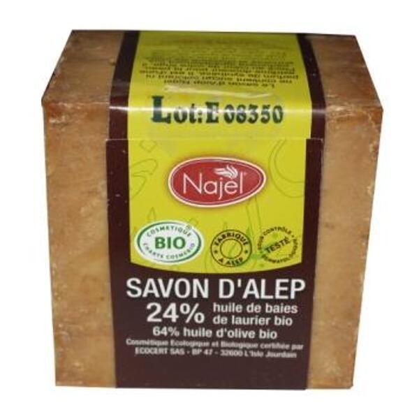 Savon d'alep bio Najel - 24% huile de baies de laurier