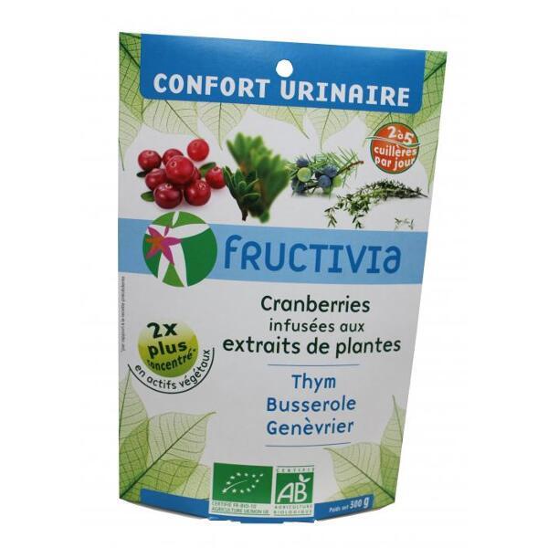 CRANBERRIES INFUSEES AUX EXTRAITS DE PLANTES - CONFORT URINAIRE - FRUCTIVIA