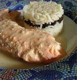 Pavé de saumon bio au riz et au graine de goji bio